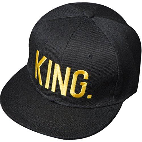 Belsen Damen Hip-Hop König Kaiserin Baseball Cap Trucker Hat Kappe Hut (King, golden)