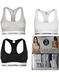 Calvin Klein Bralette 3er Set Modern Cotton Bustier Schwarz/Weiß/Grau
