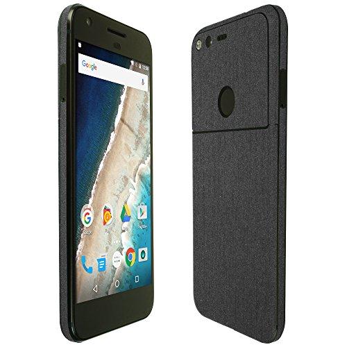 skinomir-techskin-google-pixel-screen-protector-5-brushed-steel-full-body-skin-front-back-wrap-clear