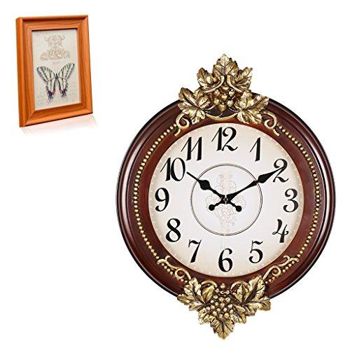 Clocks and watches-YL Nostalgische Wanduhr- Große Retro Digital Silent Wanduhr Kaufen Sie eine Uhr Geschenk 7 Zoll Bilderrahmen Wohnzimmer Wanduhr Dekoration -Metall-Wanduhr