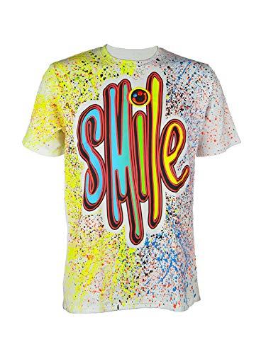 Schwarzlicht T-Shirt Neon Smile White, Gr. S