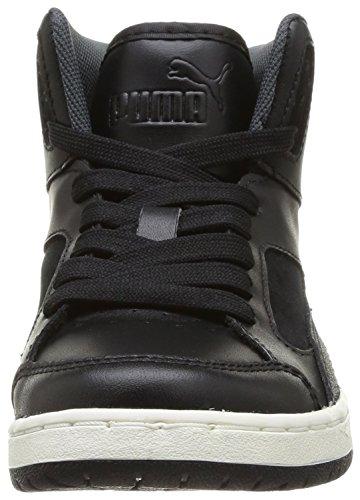 Puma Rebound V2 Hi Jr, Sneaker Bambino Nero  (Noir (Black/White/Dark/Bronze))