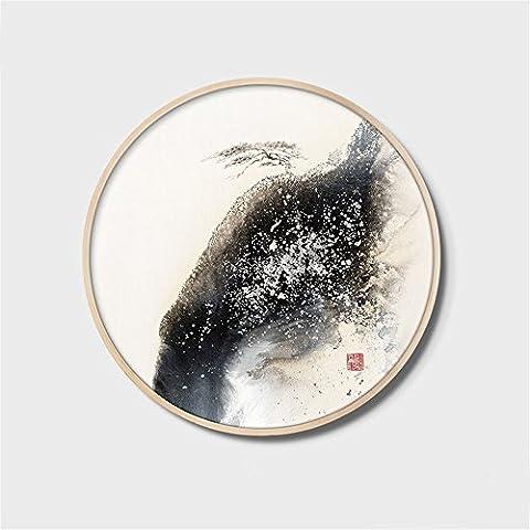 FUXINGXING Peintures de paysages chinois décorent le salon de peinture abstraite respectant le cercle d'étude des peintures de paysage sont suspendus 50cm,C ?