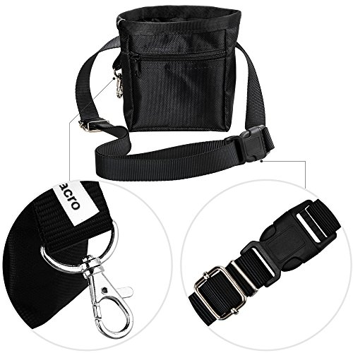 Zacro-Black-Dog-Treat-Training-Pouch-Carrying-Dog-Food-Adjustable-Waist-Bag-for-Pet-Trainers-and-One-Set-of-Free-Training-Clicke