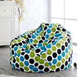 #8: Multi colored polka dot bean bags with filled beans xxxl HD Printed by Style Crome