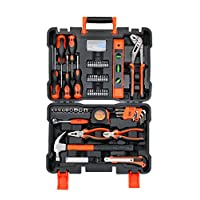 Black+Decker 154 Pieces Hand Tool Kit for Home & Office Use, Orange/Black - BMT154C, 2 Years Warranty