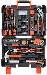 Black+Decker Professional Hand Tool Kit (154 Pieces), BMT154C, H85 x W285 x D390 mm, Orange/Black, 2 Years Bra