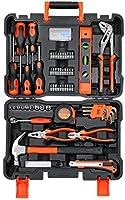 Black+Decker Professional Hand Tool Kit (154 Pieces), BMT154C, H85 x W285 x D390 mm, Orange/Black, 2 Years Brand Warranty