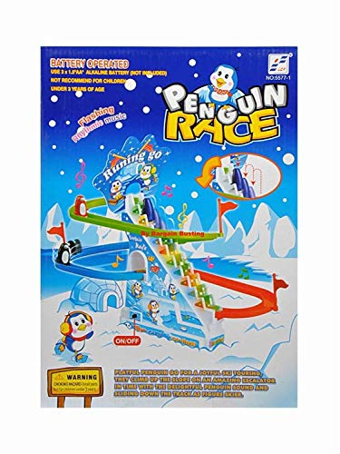 Haktoys Arctic Fun Playful And Educational Penguin Slide Race Set 1990-now Improved Ver Battery Operated