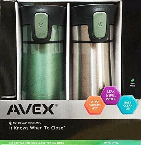 Avex-Contigo-AutosealAspirateur-isol-Voyage-Acier-Inoxydable-Fioles