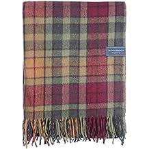 The Tartan Blanket Co. Couverture recyclée en laine – style tartan écossais Buchanan Autumn