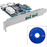 XCSOURCE 4 Ports PCI-E to USB 3.0 Expansion Card - Interface USB 3.0 4-Port PCI-Express Card Desktop For Windows XP / Vista / 7 / 8 AC318