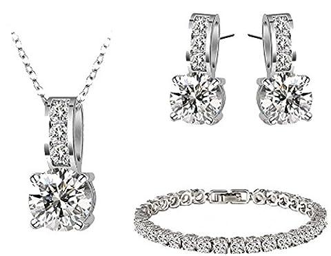 SaySure - Necklace Pendant /Earring/Bracelet Set