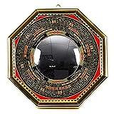 """HFSYYM6 Mascotte Feng Shui Bagua Conseil Luo Miroir Retour Or Convex Feng Shui Chinois Entrée Miroir for la Chance et Les Produits Le succès Puissant Objets de décoration (Size : 6.3"""")..."""