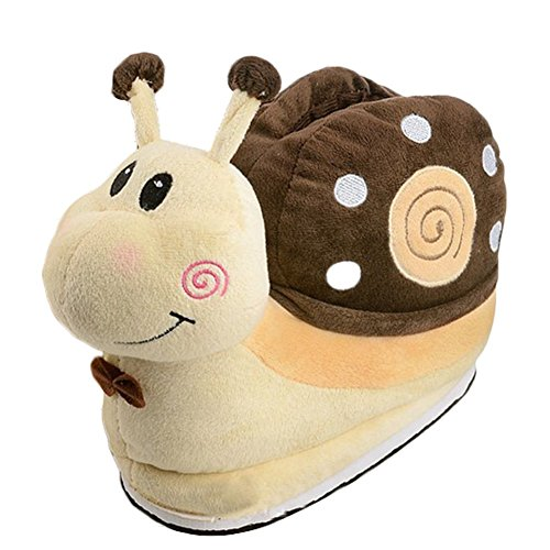 Pantofole Peluche - Feelme Lumaca Ciabatte Invernali Cartoni Animati Peluche Scarpe Anime Halloween Cosplay Costume