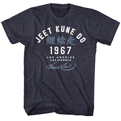 Bruce Lee - - Académie '67 T-shirt pour hommes, X-Large, Navy Heather