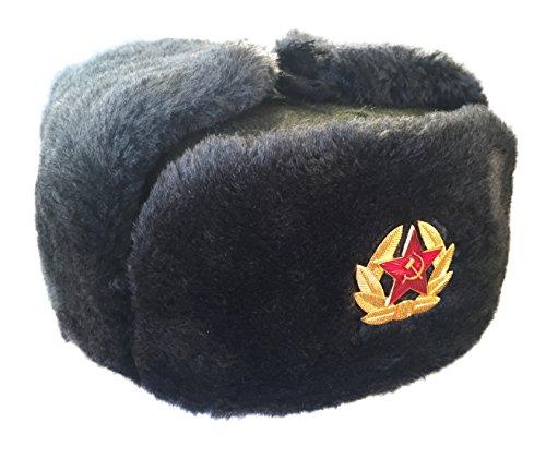 Ganwear Uschanka, Winterfellmütze im Stil der russischen Armee/Sowjetarmee mit...