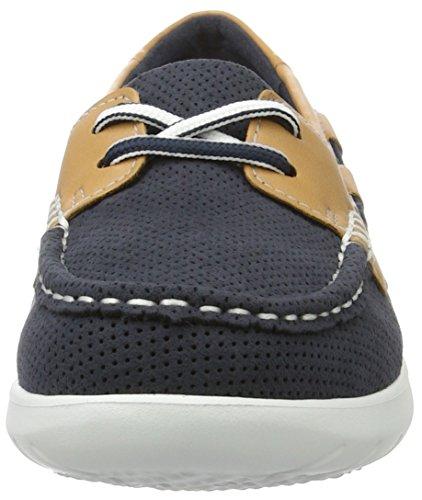 Clarks Jocolin Vista, Chaussures Bateau Femme Bleu (Navy)