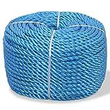 Tidyard- Polypropylenseil 16 mm 100 m Bootsseil Verschleißfest Vielzweckseil Allzweck Reepschnur für Bootsport, Segeln
