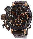 U-Boat 6946Herren Chimre schwarz und Bronze Automatik Uhr mit Braun Zifferblatt Chronograph-Anzeige und braun Lederband