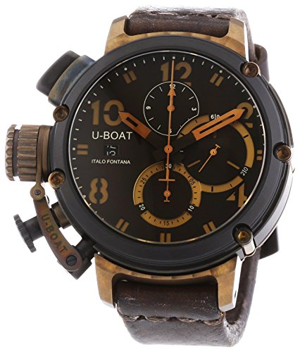 u-boat-6946-mens-chimera-black-and-bronze-automatic-watch-with-brown-dial-chronograph-display-and-br