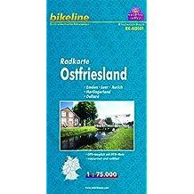 bikeline Radkarte Ost-Friesland, Emden - Leer - Aurich - Harlingerland - Dollard, 1 : 75.000, wasserfest und reißfest, GPS-tauglich mit UTM-Netz