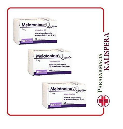 3x melatonina viti retard da 1 mg-con vit b6 180 cpr migliora qualita sonno