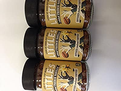 Littles natural French vanilla infused instant coffee 3 X 50g jars by Littles