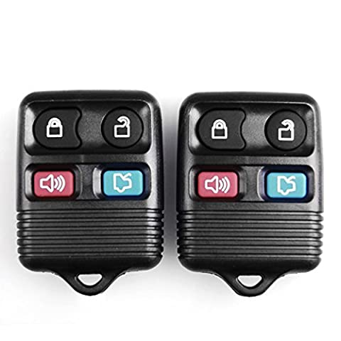 2Pcs 4 Button Hot Sale Replacement Keyless Entry Remote Key