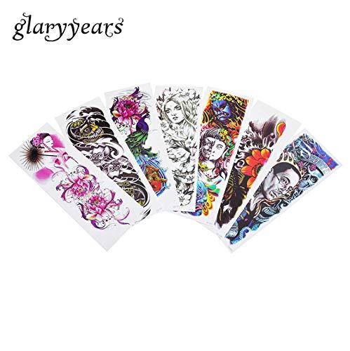 räre Volle Blume Arm Tattoo Tattoo Teufel Teufel Design Unisex Diy Körper Kunst Farbe Tattoo Tattoo Weihnachten G Ift Dz AAA-001 ()