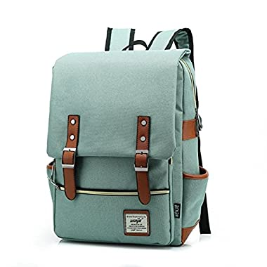 TININNA Unisex Vintage Canvas Backpack Satchel Rucksack Daypack Shoulder School Bag Schoolbag for Women Ladies Girls