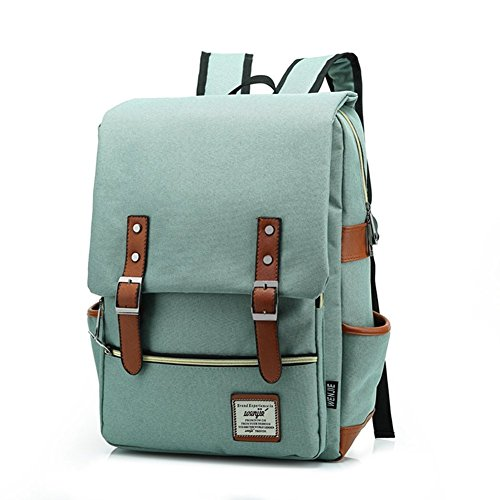 - 51JQ9y0eumL - TININNA Unisex Vintage Canvas Backpack Satchel Rucksack Daypack Shoulder School Bag Schoolbag for Women Ladies Girls