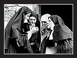 Affiche 30x40 cm Pause cigarette / Smoking Nuns Anonyme