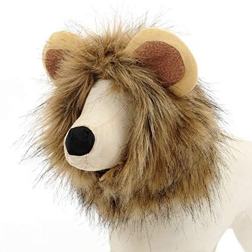 ZZQ Niedlichen Haustier Verklärung Kostüm Lion Mähne Winter Warme Perücke Katze Kleine Hundepartei Kleidung Dekoration Mit Ohr Haustier Bekleidung Katze (Pet Lion Kostüm)