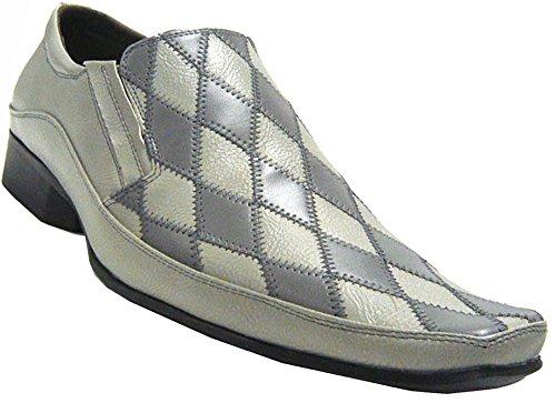 Patchino Mens Shoes Slipper Scarpe Da Lavoro Eleganti Grigio Grigio