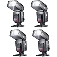 Neewer® Lot DE 4 Flashs Speedlite TT560 pour Canon, Nikon, Olympus, Panasonic, Fujifilm, Minolta, Pentax, Sigma, Leica et Toute Autre Appareil Photo numérique et DSLR