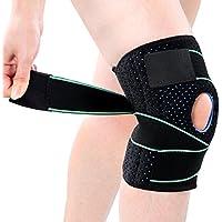 Kniebandage, Knieschützer Atmungsaktiv Kniestütze Kompression Knieschutz Einstellbare Knieorthese für Sport, Schmerzlinderung von Kniescheibe und Rehabilitation (Grün)
