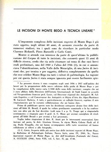 Le incisioni di Monte Bego a tecnica lineare. Nuove ricerche sulle incisioni lineari di Monte Bego.
