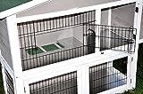 nanook Kleintierstall Hasenstall Idefix XL grau weiß – doppelstöckig – lackiertes Gitter – div. Türen – 113 x 110 cm - 3