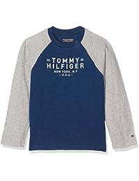 Tommy Hilfiger Baby-Jungen Langarmshirt Ame Colorblock Cn Tee L/S