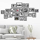Khirki Set Of Photo Frames Extravagant Wall Hanging Individual Photo Frame- Set Of 23 (Multiple Size , Black)