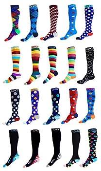 Kompression Socken (1Paar) Für Männer & Frauen Von Infinity–Beste Für Running, Krankenschwestern, Tibiakantensyndrom, Flight Travel, Skifahren & Mutterschaft Schwangerschaft–Boost Athletic Ausdauer Und Wiederherstellung 2