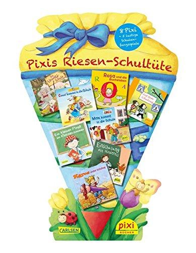 pixis-riesen-schultute-8-pixi-bucher-und-5-lustige-spiele-auf-grosser-stanzpappe-in-schultutenform