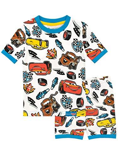 Disney Jungen Cars Schlafanzug Weiß 104