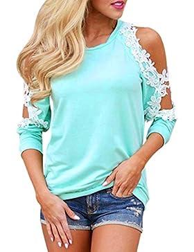 K-youth® Camiseta Para Mujer, Mujer Manga Larga Camisa Casual Blusa Suelto Tops Barata Atractivas Blusas Mujer...