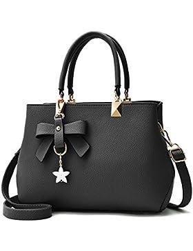 Damen Handtasche, flintronic Neu Fashion Klassische Handtaschen für Frauen PU Leder Schulterbeutel Taschen Umhängetasche