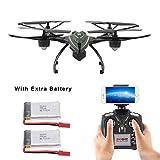 LiDi RC JXD 510G 5.8G FPV Drone avec 2.0MP caméra HD en temps réel Haut Hold Mode Headless mode One Key Retour RC Quadcopter avec 2 batteries supplémentaires (510W)