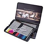 US Sense Coloriage Crayons Art Peinture Fournitures Crayons de Dessin pour Artiste Couleurs Assorties, Paquet de 48 (48 colour pencil)