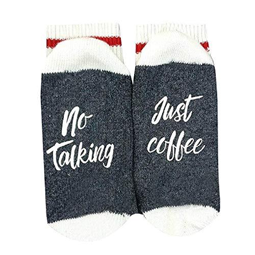 Ybenlover Unisex Lustige Printed Socke Mit Sprüchen No Talking Just Kaffee
