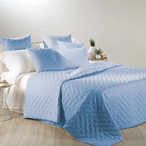 Quilt Tagesdecke Mix Einzelbett Caleffi Double Face Stoff Baumwolle hellblau -